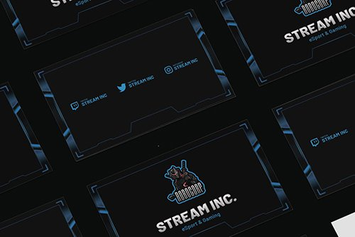 Streamer eSports & Gaming Business Card