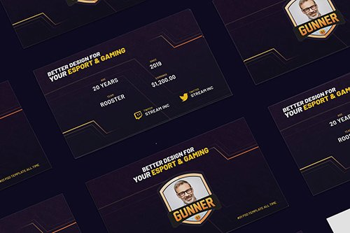 eSports & Gaming Business Card PSD Template