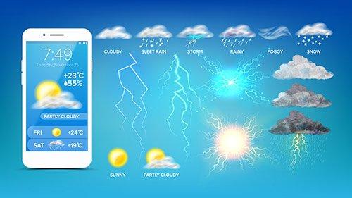 Online Weather Widget Smartphone