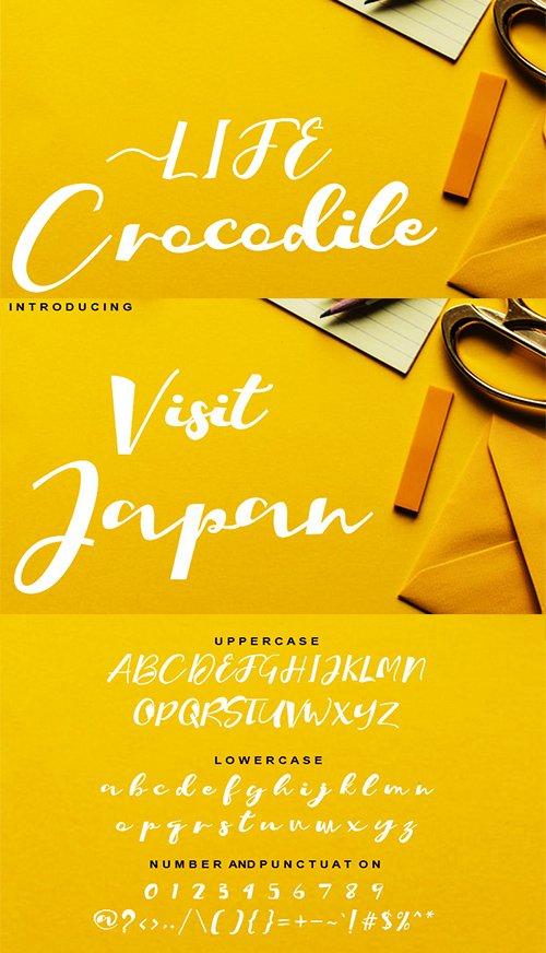 Crocodile Script Font
