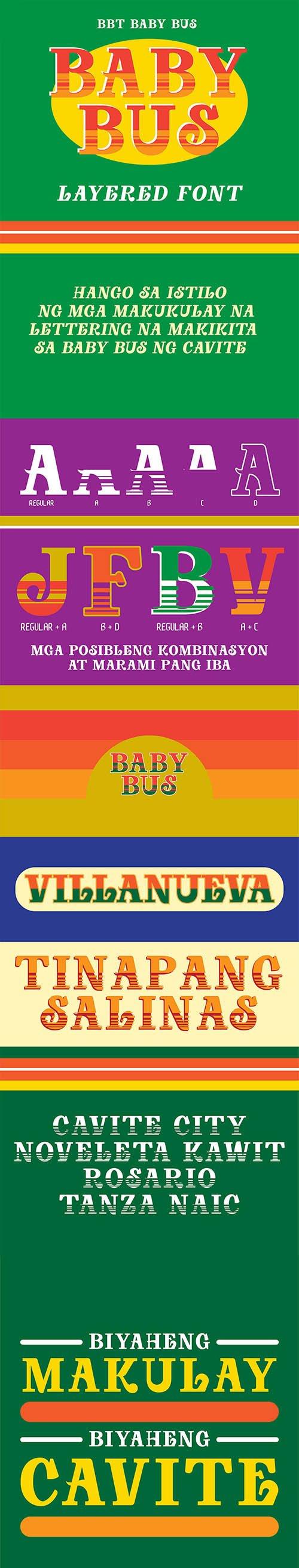 Baby Bus Slab Serif Script Font Family