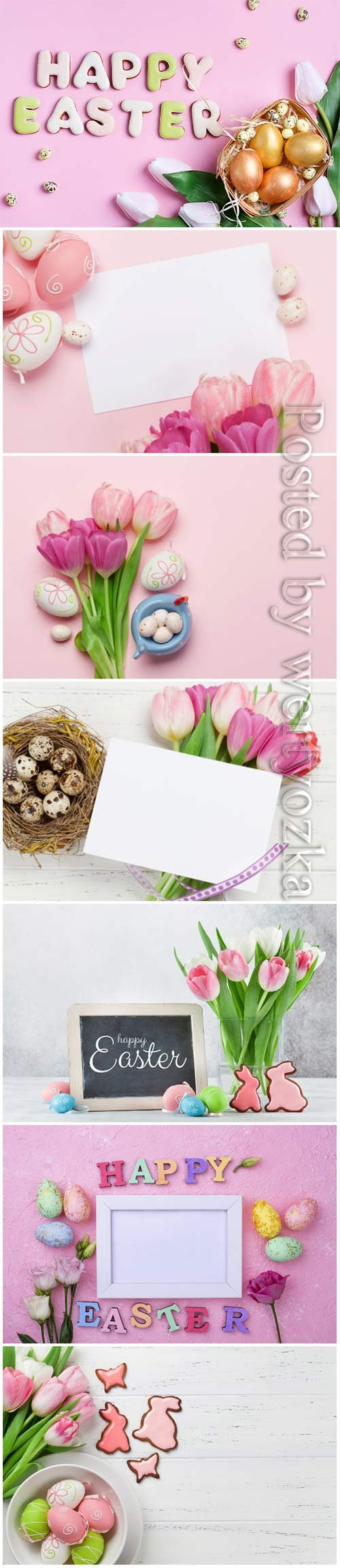 Happy Easter stock photo, Easter eggs, spring flowers # 10
