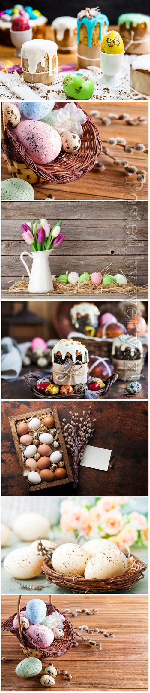 Happy Easter stock photo, Easter eggs, spring flowers # 9