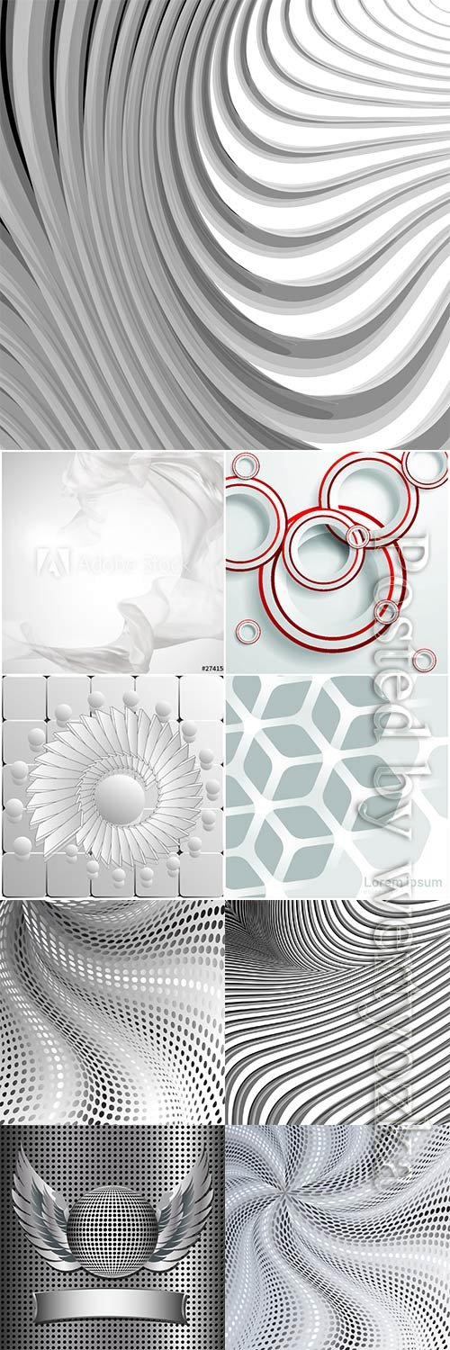 Abstract bright vector backgrounds, lines and patterns