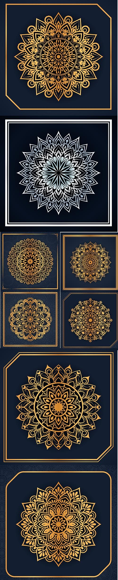 Creative Luxury Mandala Background Vol 2 Set