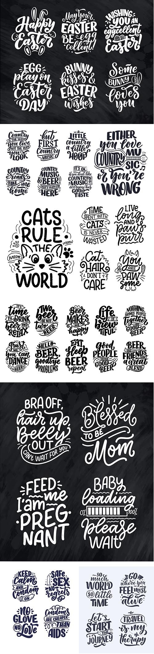 Lettering Quotes Template