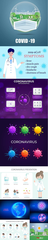 2019 Covid-19 Coronavirus Concept Illustration Vol 3