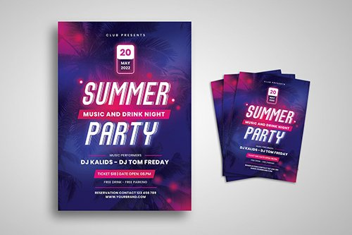 Neon Party Flyer 3