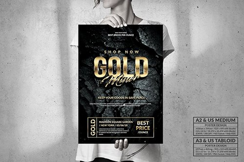 Gold Miner - Big Poster Design