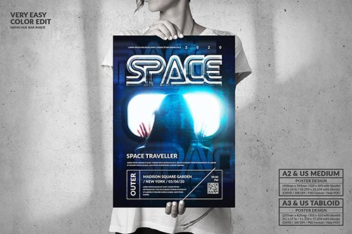 Space Music Event - Big Party Poster Design