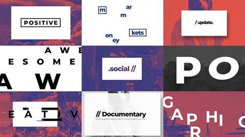 Typographic And Documentary Opener 25677485