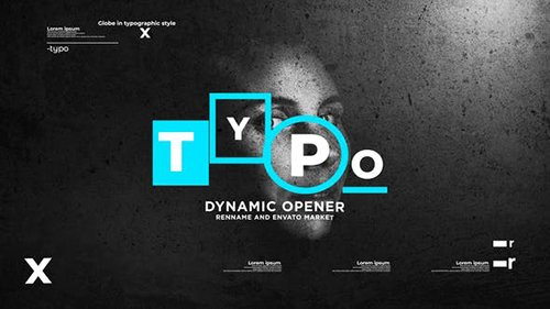 Typographic Dynamic Stomp Opener 24996258