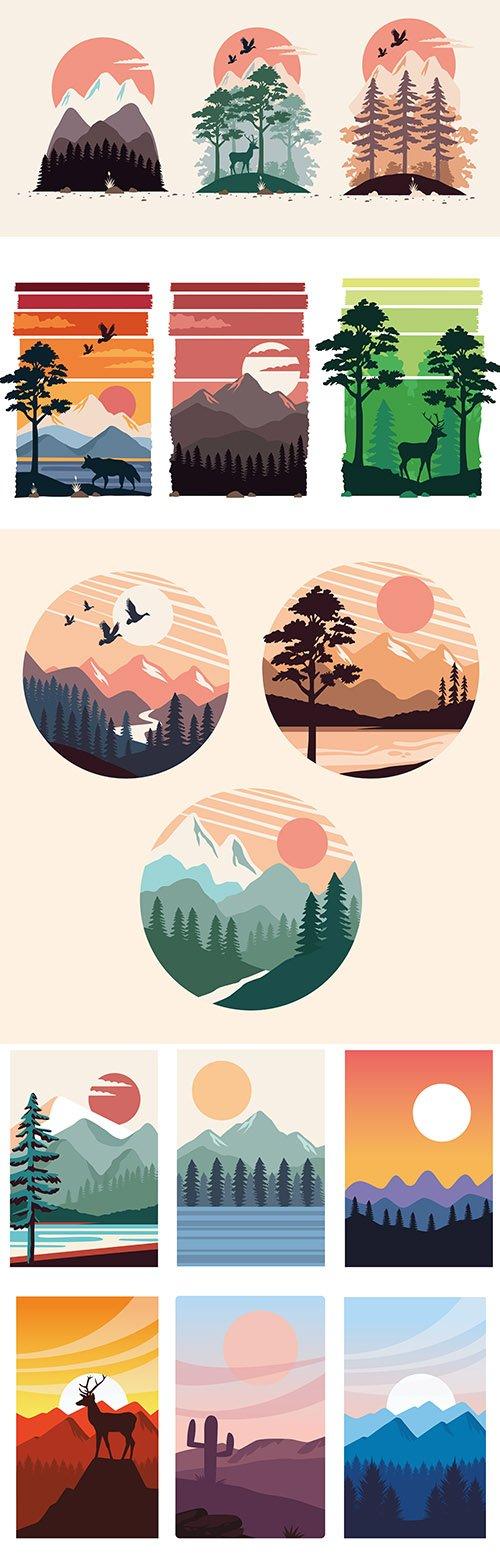 Beautiful Landscapes Scenes Bundle