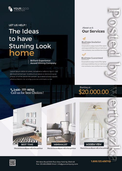 Interior Design and Furniture - Premium flyer psd template