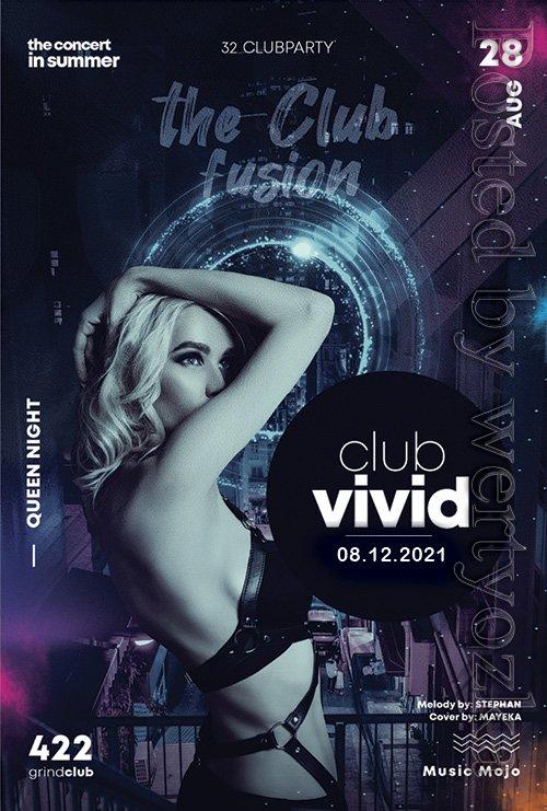 Club vivid - Premium flyer psd template
