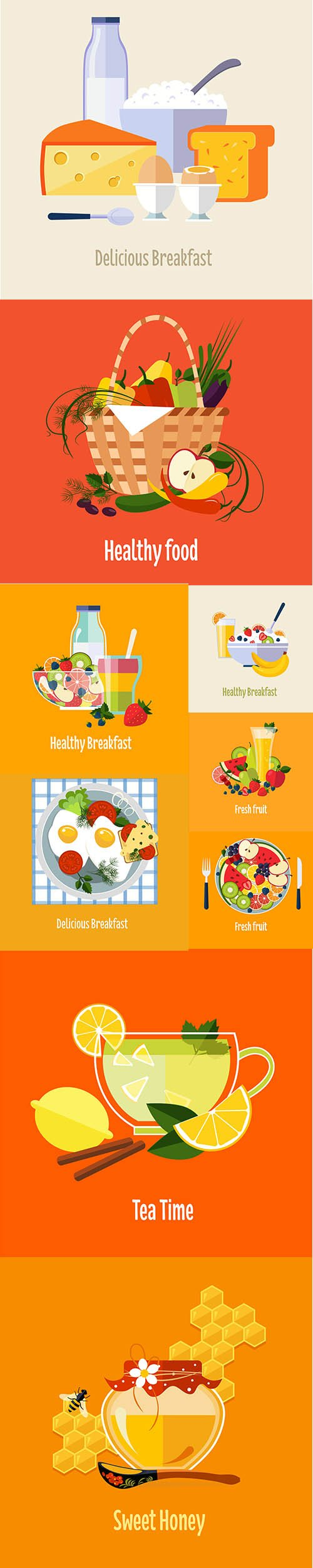Good Food Vector Illustration Collection