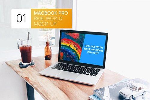 MacBook Retina Bright Interior Real World Mock-up