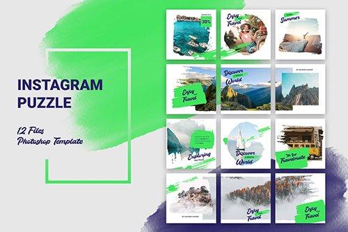 Instagram Puzzle Travel