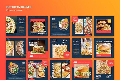 Instagram Banner Burger Fast Food