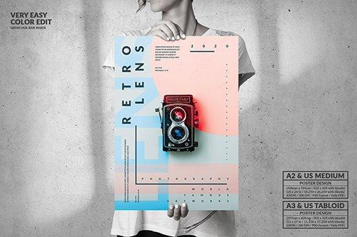 Retro Lens Exhibition - Big Poster Design