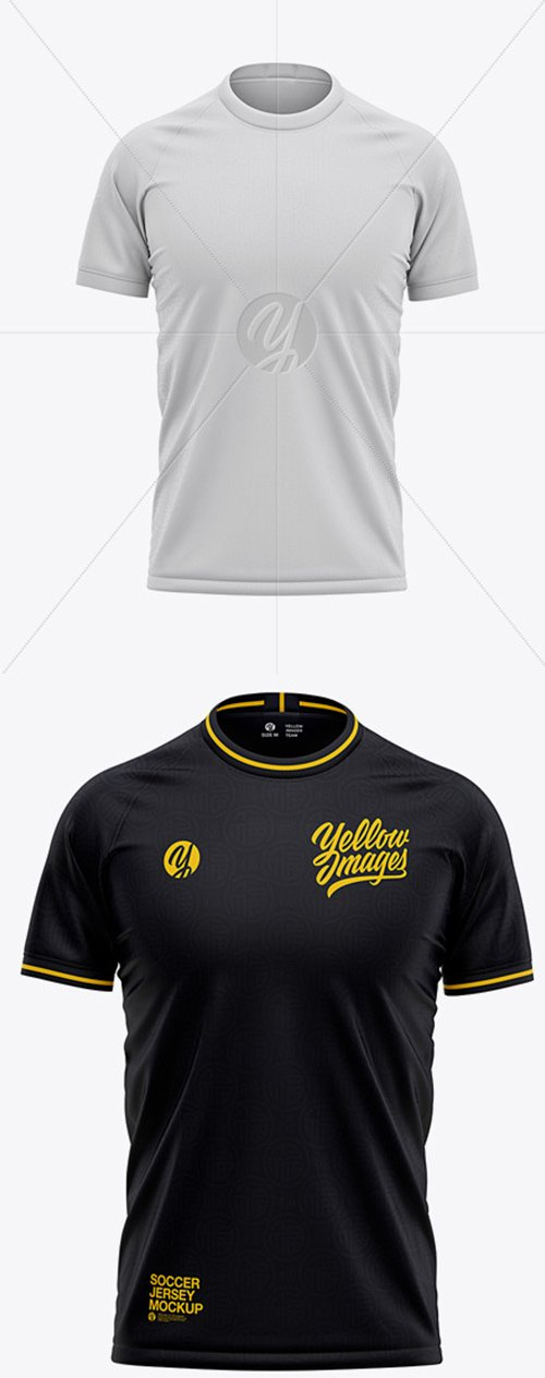 Mens Crew Neck Soccer Jersey Mockup - Front View 52148