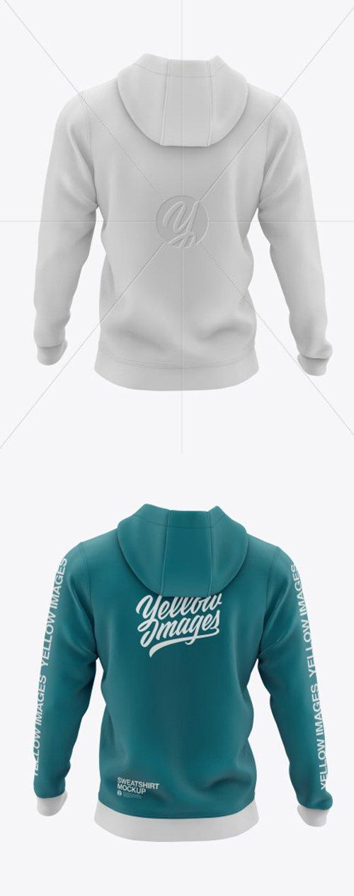 Mens Full-Zip Hooded Sweatshirt Mockup 52031