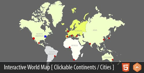 CodeCanyon - Interactive World Map With Cities v4.1 - 4757953
