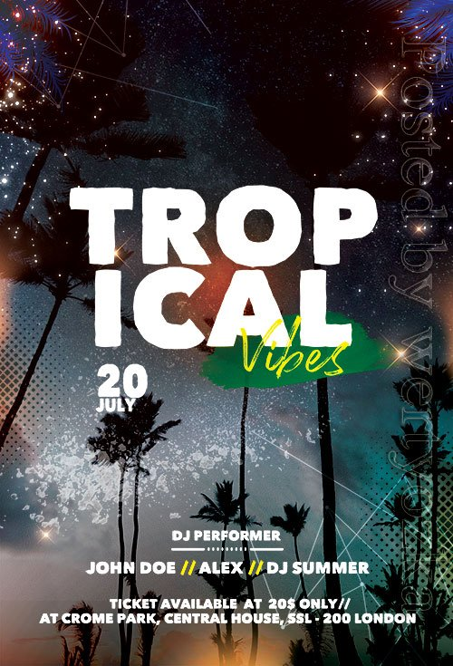Tropical Vibes - Premium flyer psd template