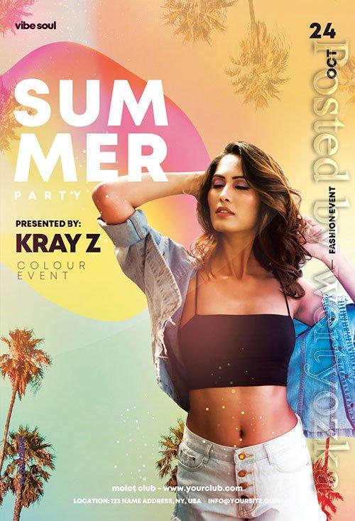 Summer party - Premium flyer psd template