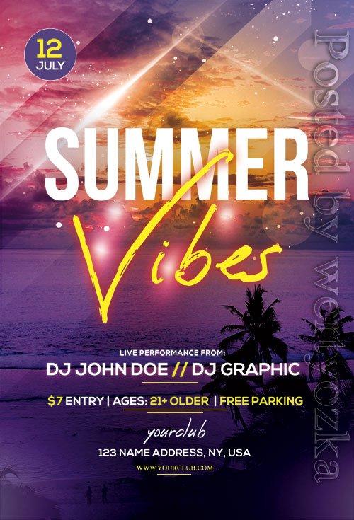 Summer Vibes - Premium flyer psd template