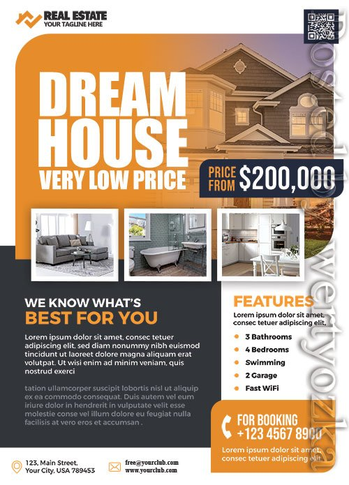 Real Estate Business Promotion - Premium flyer psd template