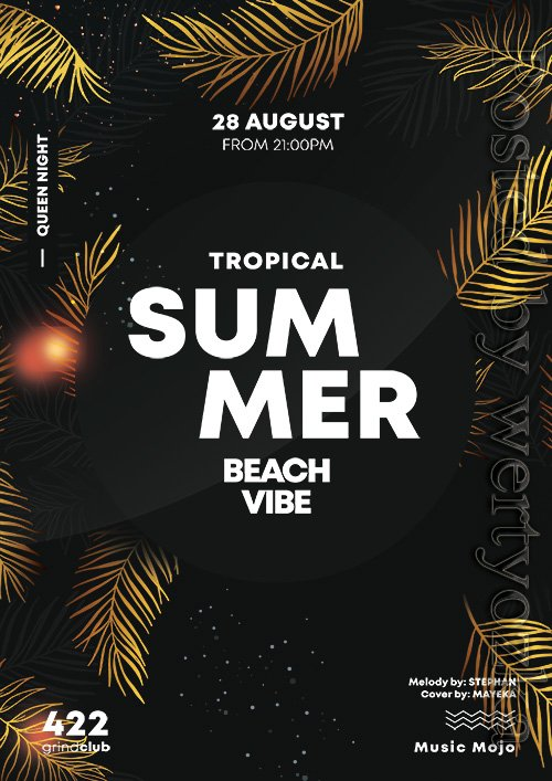 Summer gold - Premium flyer psd template