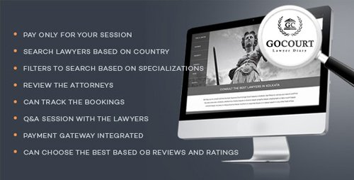 CodeCanyon - Online Lawyer Booking Solutions - GOCOURT v1.0 (Update: 11 July 19) - 17787763