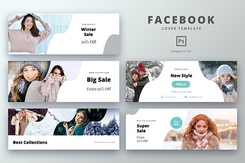 Facebook Cover Template Big Sales Fashion