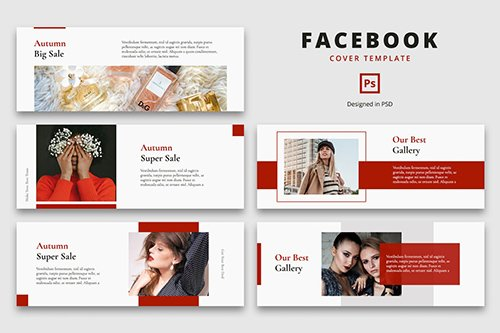 Facebook Cover Template Autumn Fashion