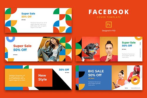 Facebook Cover Template Urban Style