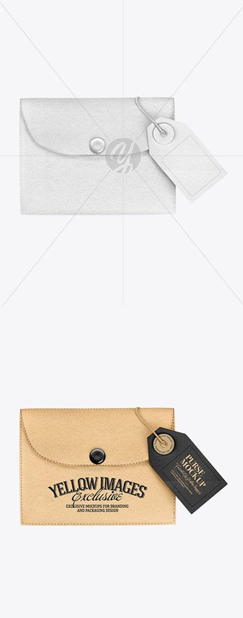 Kraft Purse w/ Label Mockup 50168