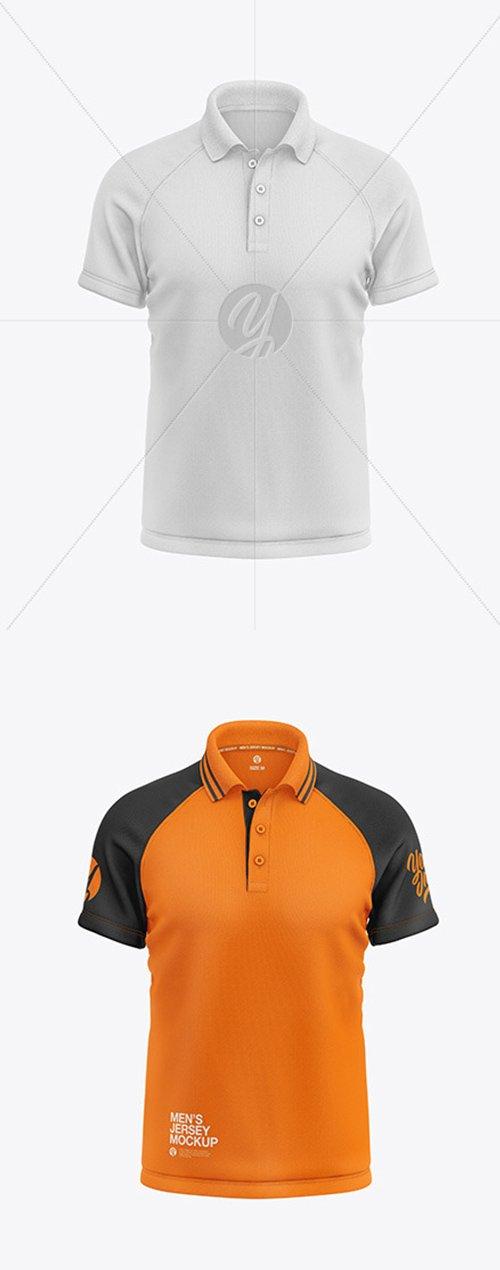 Mens Short Sleeve Polo Raglan Mockup 55304