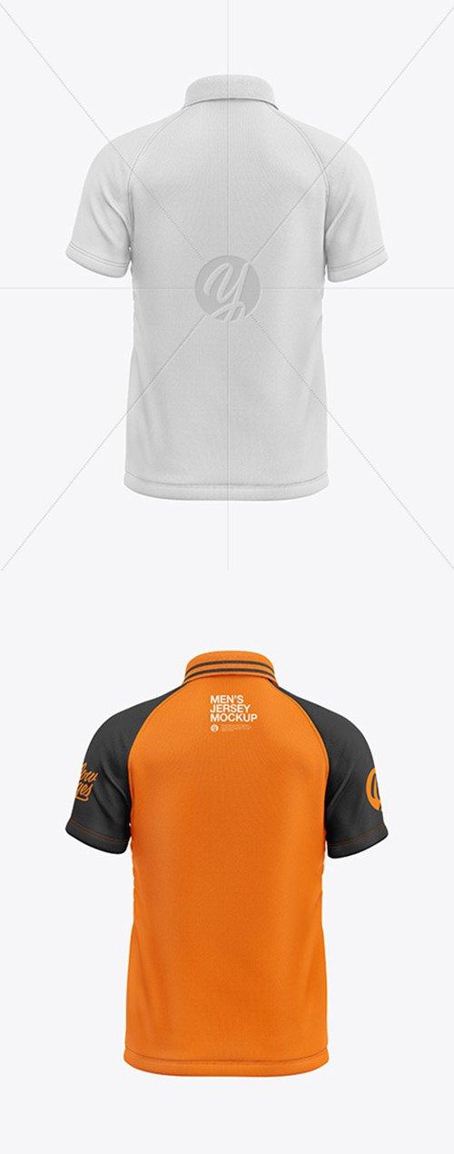 Mens Short Sleeve Polo Raglan Mockup 55322