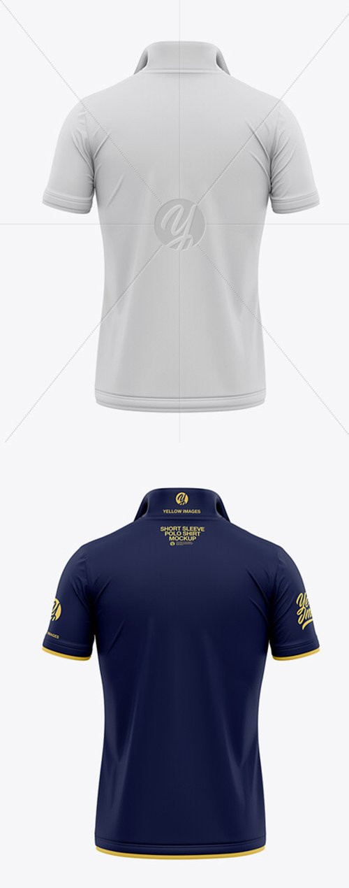 Italian / Raised Collar Short Sleeve Polo Shirt 55310