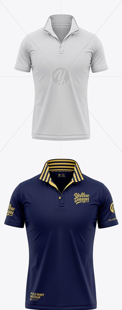 Italian / Raised Collar Short Sleeve Polo Shirt 55271