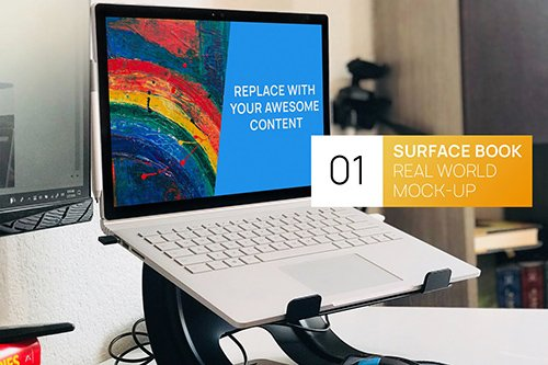 PC Surface Book Workplace Real World Mock-up