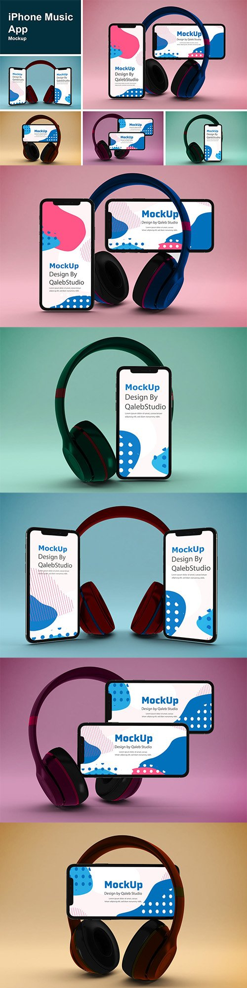 iPhone Music App Mockup