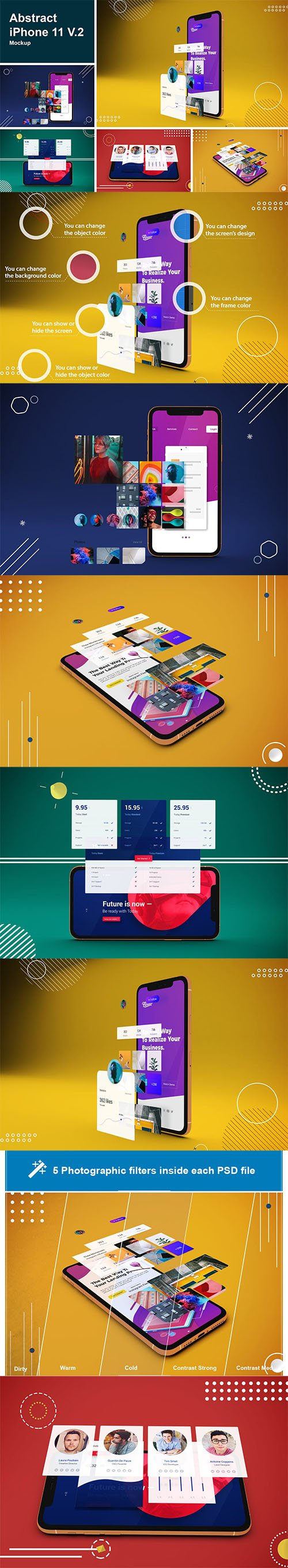 Abstract iPhone 11 Mockup V.2