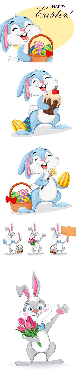Happy Easter Funny Cartoon Rabbit Pack
