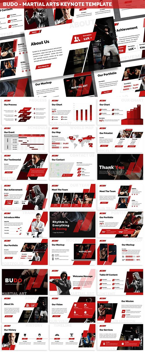 Budo - Martial Arts Keynote Template
