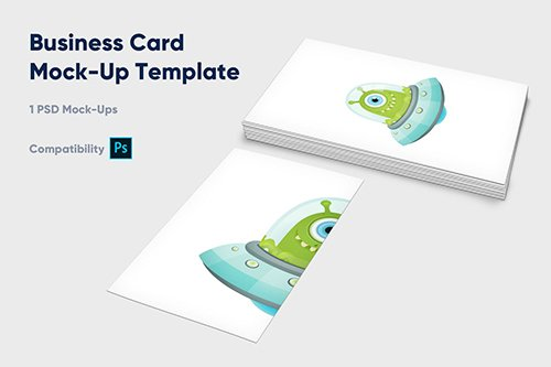 Business Card Mock-Up Template - Vol. 1