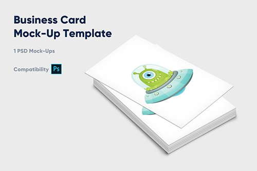 Business Card Mock-Up Template - Vol. 2