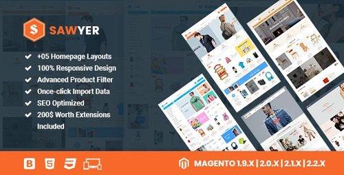 ThemeForest - Sawyer v3.0.0 - Multipurpose Responsive Magento 2 and 1.9 Theme - 15638656