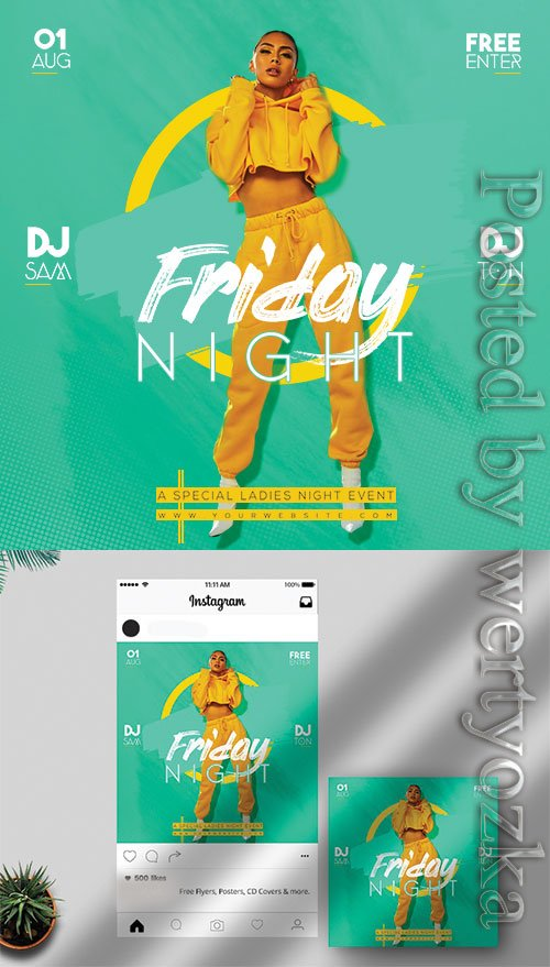 Friday Night - Premium flyer psd template